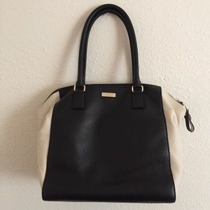 Kate Spade Black & Cream Shoulder Bag